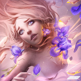 Фото Девушка в цветах ириса, by AyyaSAP