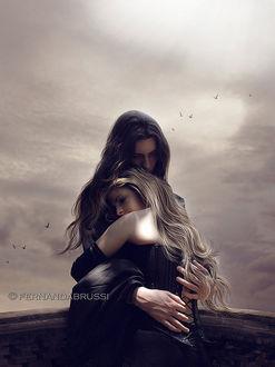 Фото Парень обнимает девушку