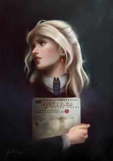 Фото Luna Lovegood / Полумна Лавгуд из фильма Harry Potter / Гарри Поттер, by gabrielleragusi