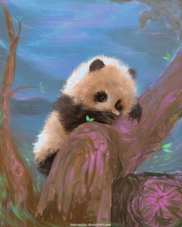 Фото Медвежонок панда на дереве, by Dan-zodiac