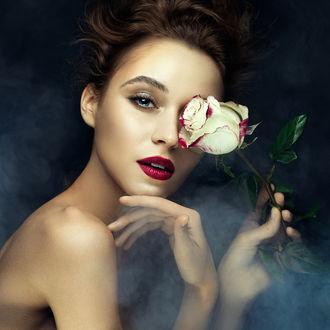 Фото Девушка держит в руке розу, фотограф Дмитрий Бочаров