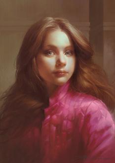 Фото Девушка с русыми волосами в розовой кофте, by TheRafa