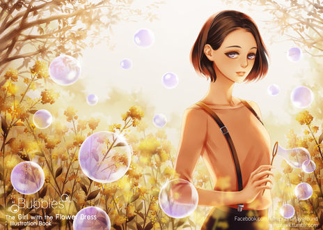 Фото Девушка в окружении мыльных пузырей, by minipraw