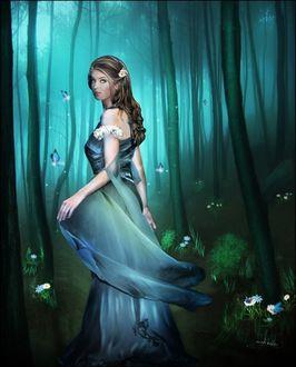 Фото Девушка в мистическом лесу, by anaRasha