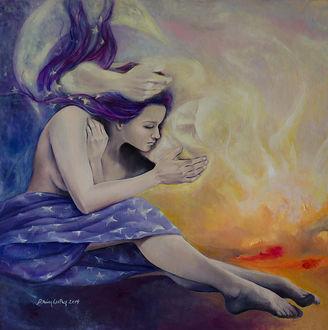 Фото Влюбленные в небесах, художник Dorina Costras