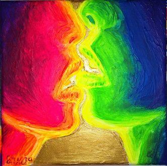 Фото Поцелуй двух влюбленных, by Corina Chirila