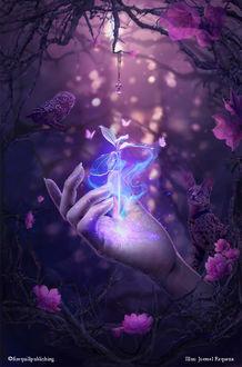 Фото Над рукой девушки волшебшый цветок, by Joemel Requeza