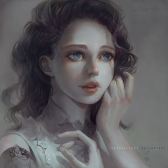 Фото Девушка с голубыми глазами, by Claparo-Sans