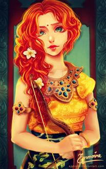 Фото Рыжеволосая девушка с луком, by enmoire