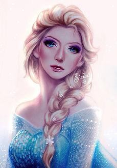 Фото Эльза / Elsa из мультфильма Холодное сердце / Frozen, by enmoire