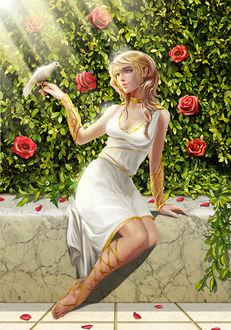 Фото Афродита - богиня красоты и любви с белым голубем на руке, by Alanvadell