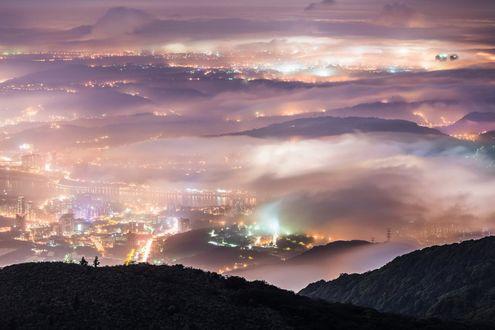 Фото Горный ночной пейзаж Тайвани, by Wang Wei Zheng