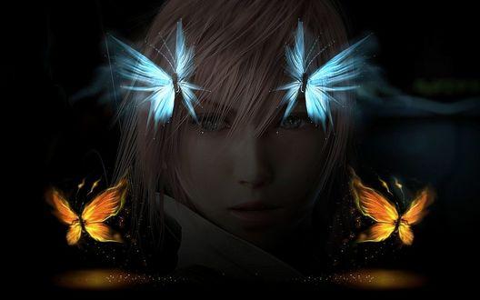 Фото Lightning / Молния из компьютерной игры Final Fantasy / Последняя фантазия