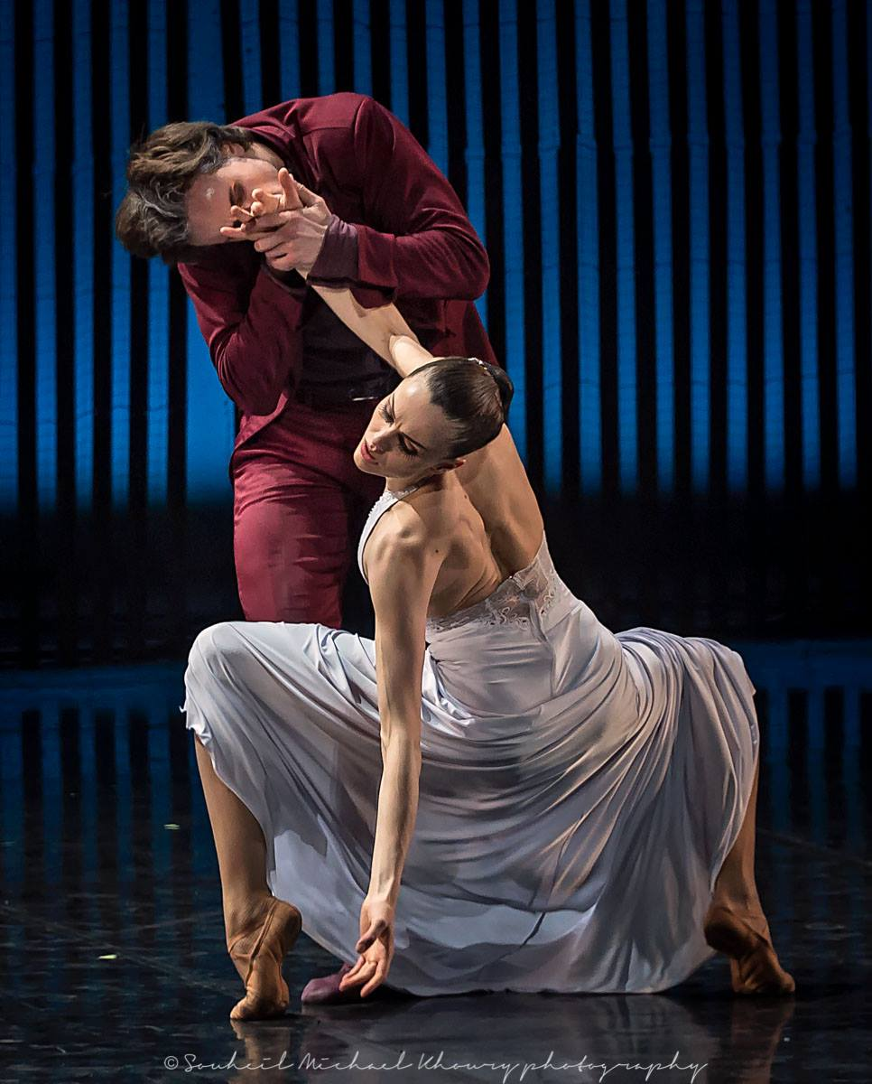 Фото Мария Абашова - ведущая солистка Театра балета с партнером в балете Евгений Онегин, by Souheil Michael Khoury