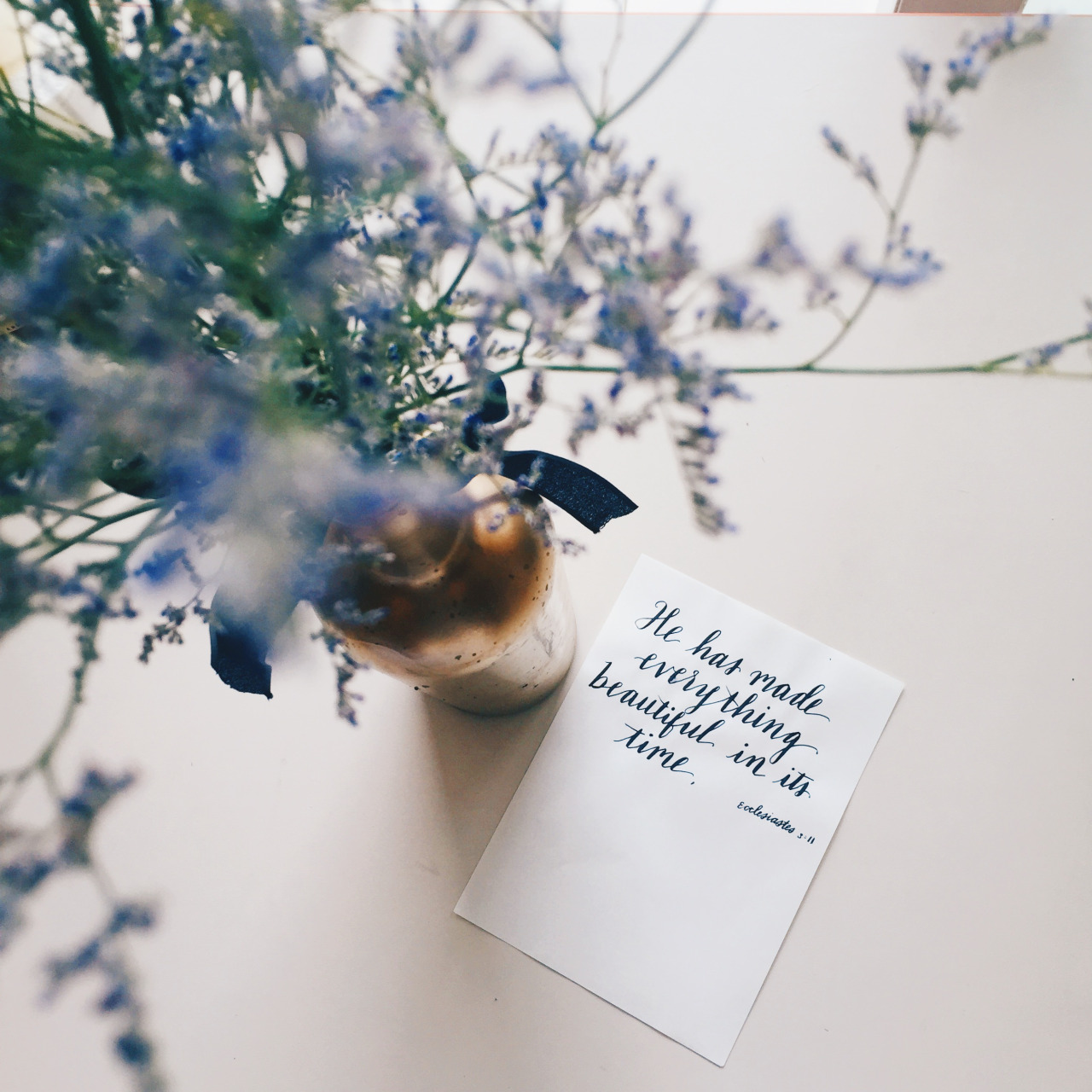 Записка в цветах для девушки