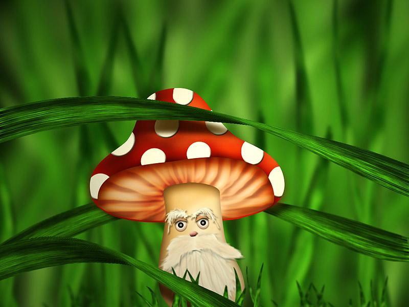 Смешной грибочек картинка, школе открытка новому