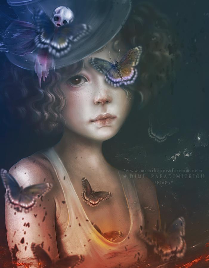 Фото Девушка в бабочках, by mimikascraftroom