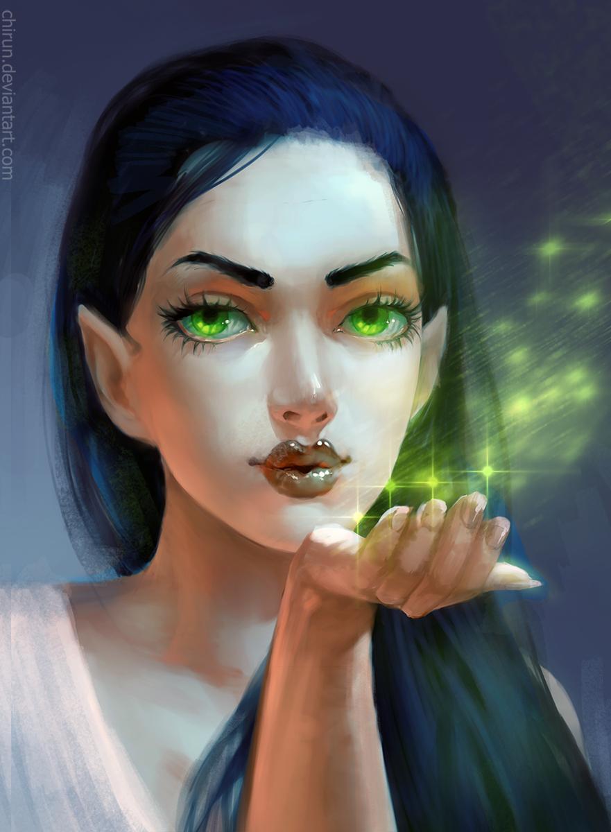 картинка зеленоглазой ведьмы кто еще сомневается