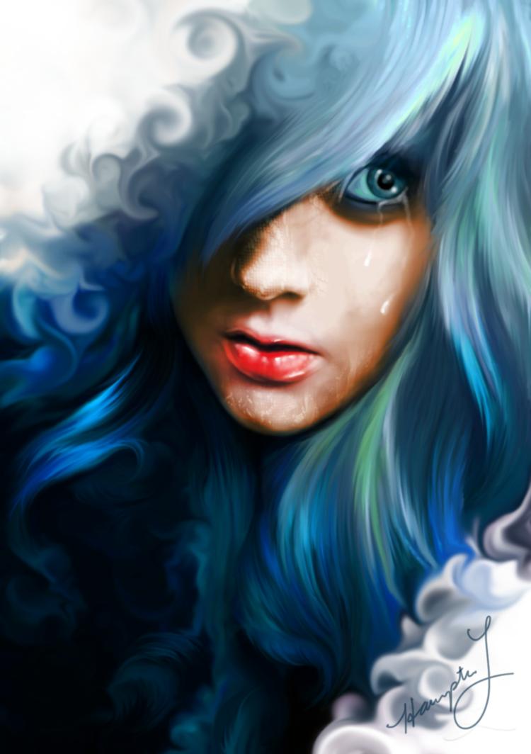 Фото Портрет плачущей девушки, by thatstranger