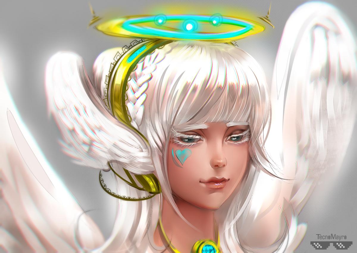 Фото Белокурая девушка ангел, by Tecnomayro