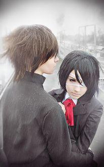 Фото Косплей Misaki Mei / Мисаки Мэй и Коити Сакакибара / Kouichi Sakakibara из аниме Иная / Another