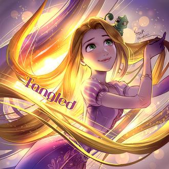 Фото Принцесса Рапунцель / Rapunzel и Паскаль / Pascal из мультфильма Рапунцель запутанная история / Rapunzel Tangled, by foomidori
