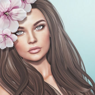 Фото Девушка с цветами на волосах, by Strawberry Singh
