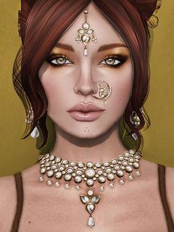 Фото Девушка с восточными украшениями, by Strawberry Singh