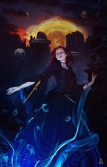 Фото Девушка в готическом платье, среди магии и рун, by itznikki530