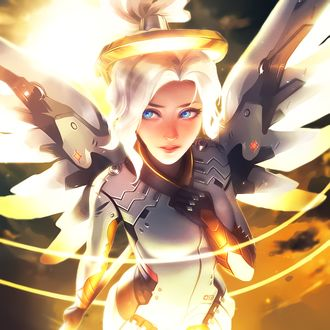Фото Mercy / Ангел / Ангела Циглер из игры Overwatch / Дозор, by AcCreed