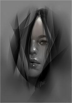 Фото Черно-белый портрет девушки, by superschool48