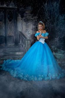 Фото Девушка в голубом платье, фотограф Родионова Наташенька