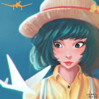 Фото Наоко Сатоми / Naoko Satomi из аниме Ветер крепчает / Kaze Tachinu, by Aru06