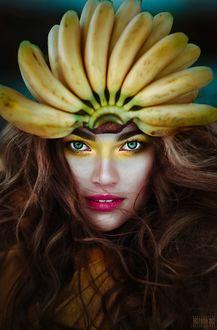 Фото Девушка с бананами на голове, фотограф Светлана Беляева