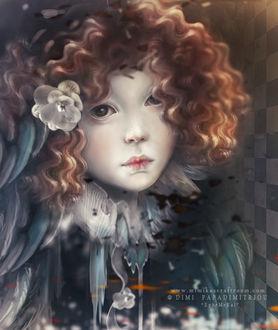 Фото Девочка с цветком в волосах, by mimikascraftroom
