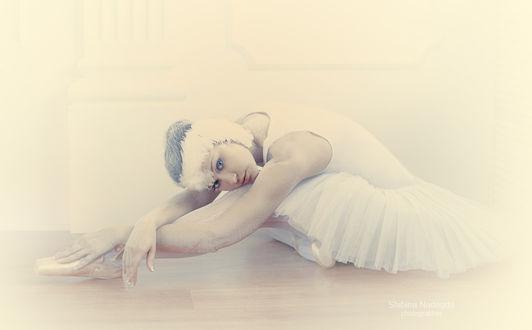 Фото Балерина сидит на полу