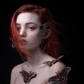 Фото Девушка в бабочках на теле и лице, by Onimon93 (© zmeiy), добавлено: 19.03.2017 22:41