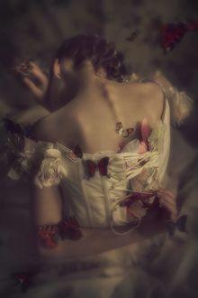 Фото Девушка в бабочках стоит к нам спиной, фотограф Jessie B (© zmeiy), добавлено: 19.03.2017 23:14
