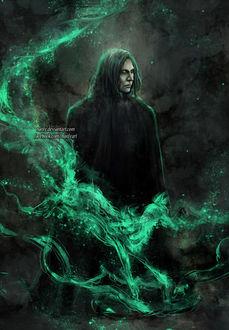 Фото Severus Snape / Северус Снегг из фильма Harry Potter / Гарри Поттер, by NanFe (© chucha), добавлено: 20.03.2017 07:14