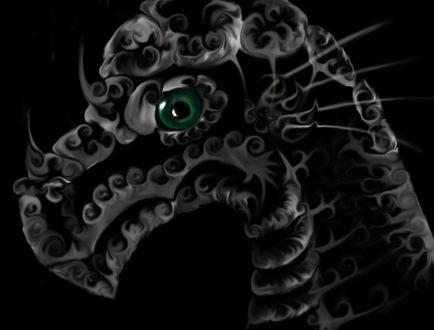 Фото Дракон с зеленым глазом на черном фоне, by Sabinzie (© Margo Fly), добавлено: 20.03.2017 16:06