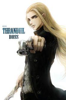 Фото Трандуил / Thranduil с пистолетом в одной руке и мечом в другой, персонаж повести Дж. Р. Р. Толкина «Хоббит, или Туда и обратно» (Thranduil Boss)