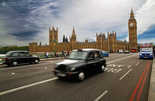 Фото Часовая Башня Елизаветы Биг - Бен Вестминстерского дворца, Англия, by Adrian Petrisor