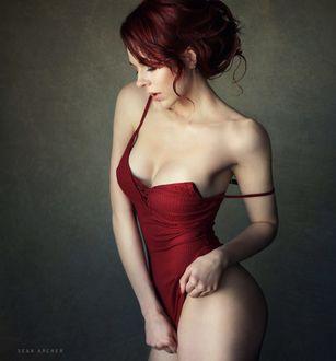 Фото Модель Валерия в красном купальнике, фотограф Sean Archer