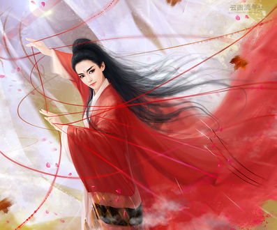 Фото Девушка в красном кимано, by hiliuyun (© zmeiy), добавлено: 25.03.2017 23:19
