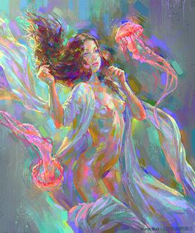 Фото Девушка в окружении медуз, by MartaNael