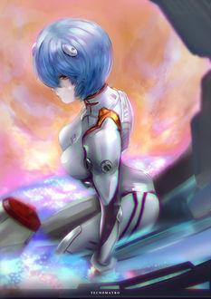 Фото Рей Аянами / Rei Ayanami из аниме Евангелион нового поколения / Neon Genesis Evangelion, by Tecnomayro