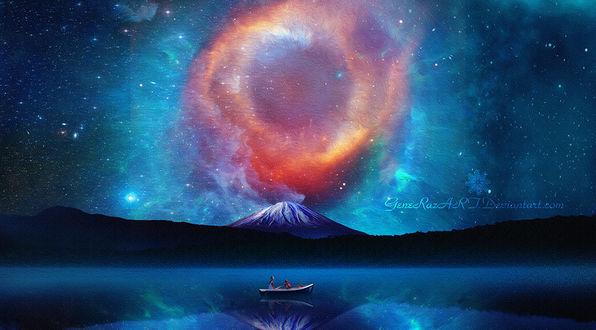 Фото Розовое извержения вулкана, by GeneRazART