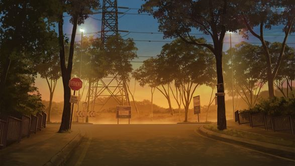 Фото Дорога освещена фонарями, by Mclelun Lee
