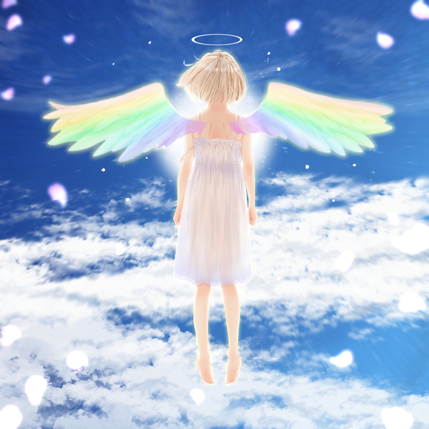 Фото Девочка-ангел с радужными крыльями, by noise_happy
