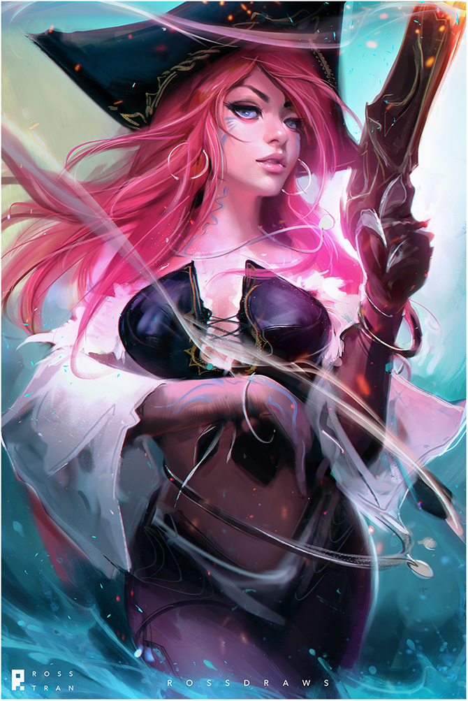 Фото Miss Fortune / Мисс Фортуна из игры League of Legends / Лига Легенд, by Rossdraws